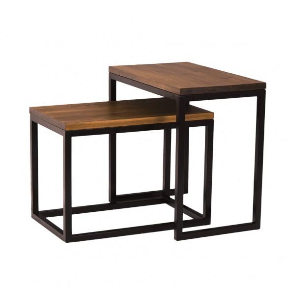 Podwójny stolik kawowy loft industrial