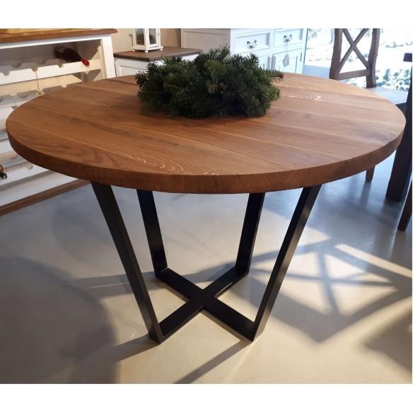 Okrągły dębowy stół