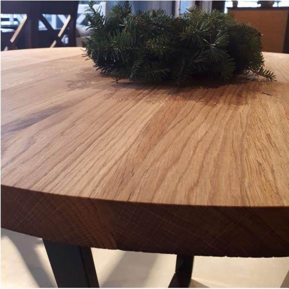 Dębowy stół okrągły