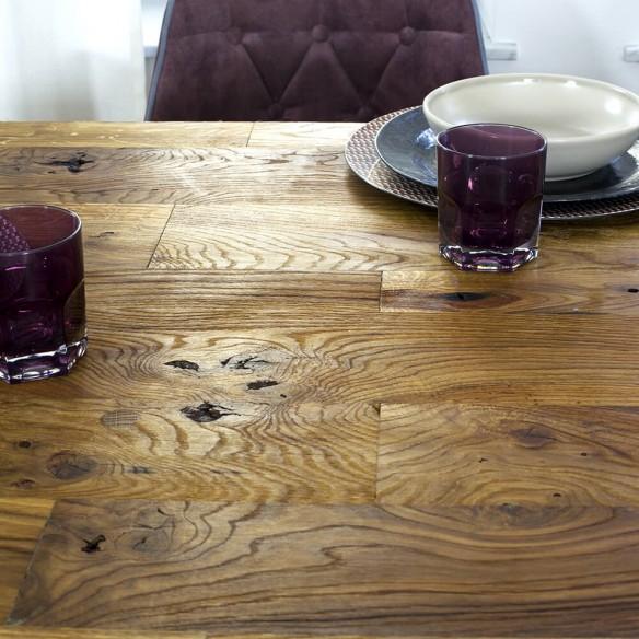 Dębowy industrialny stół