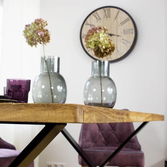 Designerski stół z blatem drewnianym