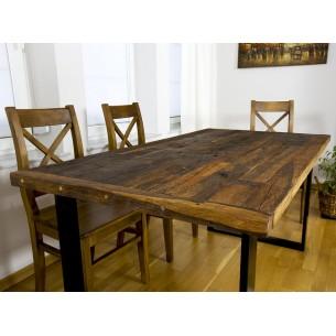 stół z dębowych desek unikat