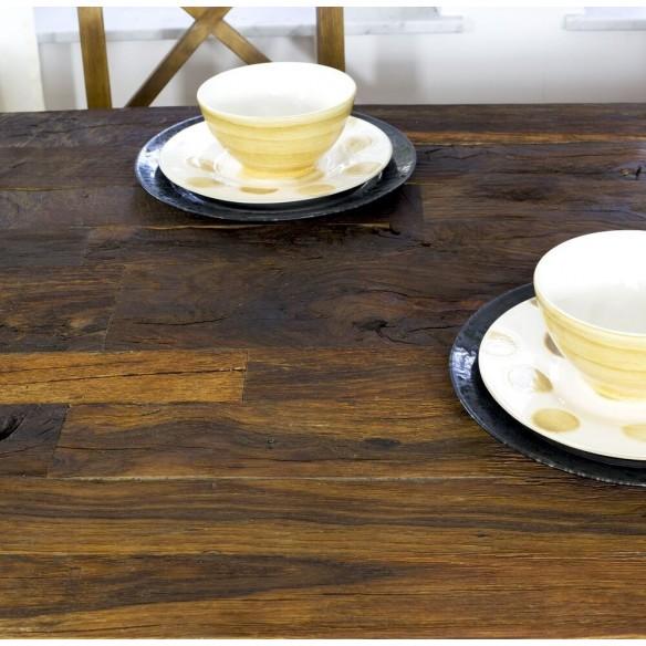 Stół z blatem z dębiny