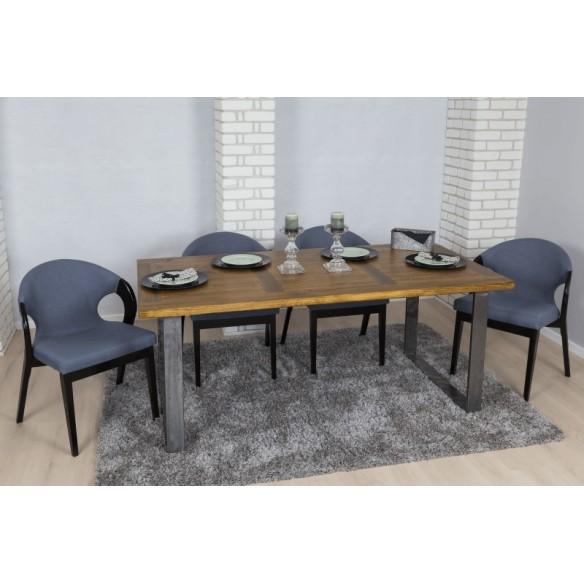 Stół styl industrialny 80 metal drewno