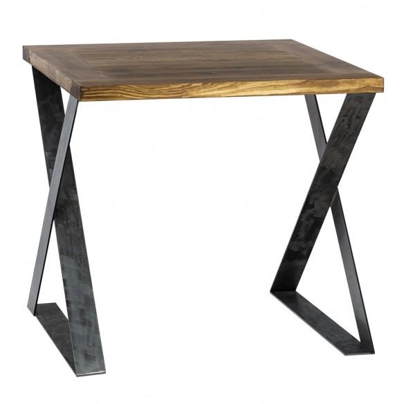 Nowoczesny industrialny stół kwadratowy