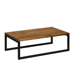 Stolik kawowy drewno metal czarny