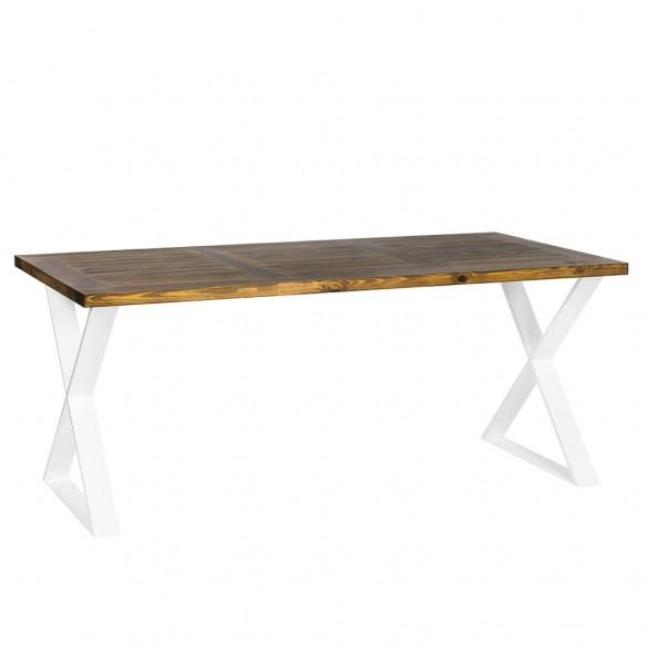 Nowoczesny stół industrialny duży biały