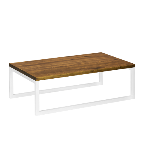 Stolik kawowy drewno metal biały