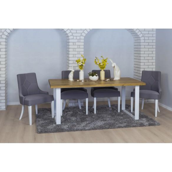Loftowy stół drewniany do domu