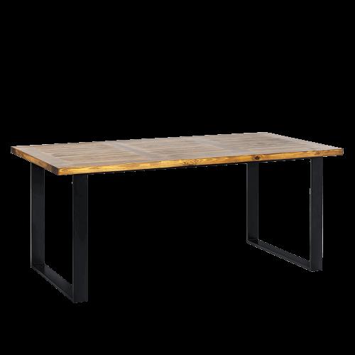 Stół loftowy z blatem drewnianym