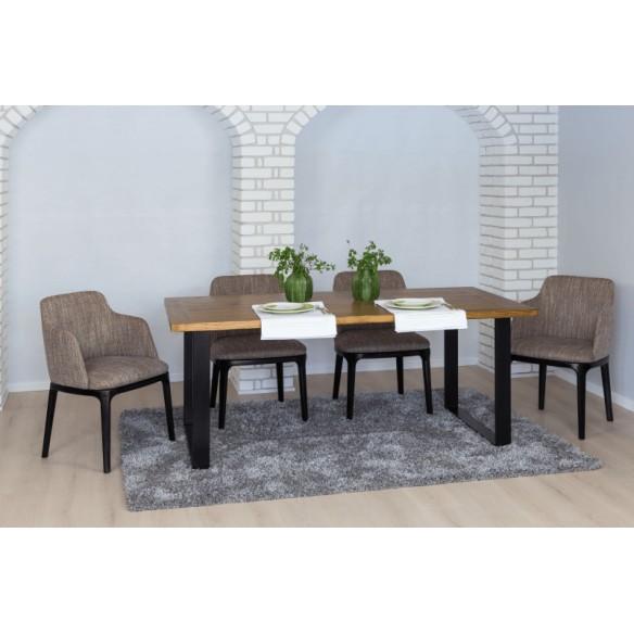 Stół loftowy drewno metal diy