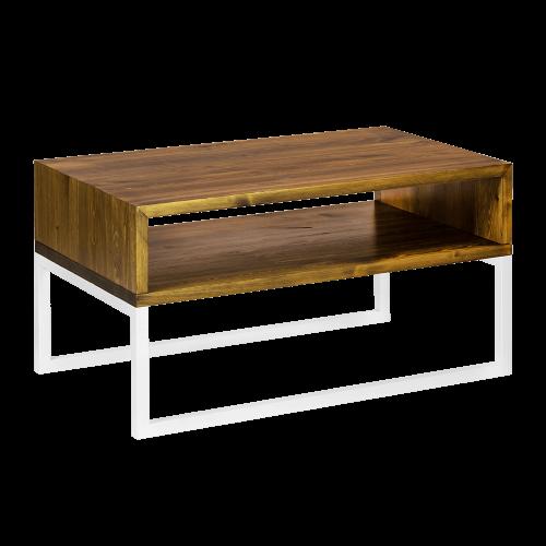 Stolik kawowy nowoczesny drewniany biały