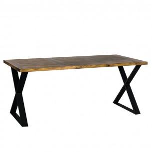 Czarny stół industrialny