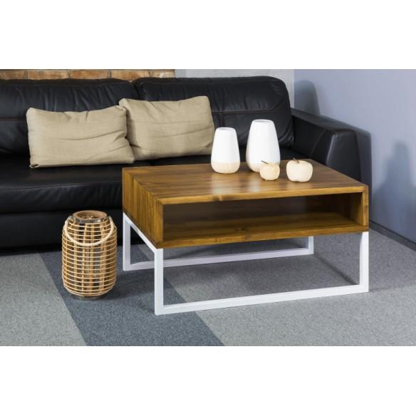 Stolik kawowy nowoczesny metal drewno