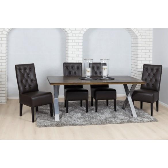 Stół w stylu industrialny salonowy