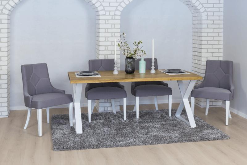stol loftowy z blatem drewnianym